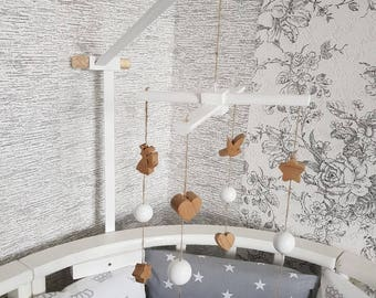 Wooden mobile Heaven above Nursery Mobile Decor
