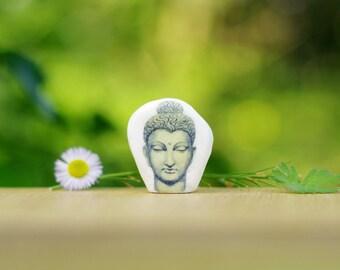 Yoga Buddha Head | Yoga Decor Small Buddah Head Meditation | Buddhist Gift Buddhism Decor | Yoga Art | Desk decor | Zen Garden Accessories