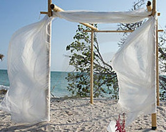 Beach wedding decorations bamboo arches and by beachweddingsupply bamboo wedding arch free shipping beach wedding archbamboo chuppahwedding arch fabric junglespirit Choice Image