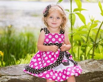 Minnie Mouse dress Med Pink peekaboo Jumper Dress