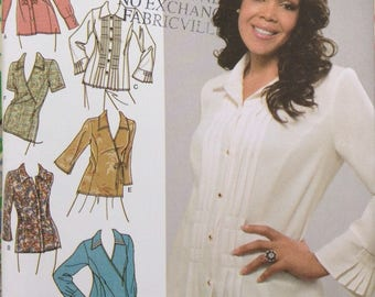Womens fashionable shirts Simplicity sewing pattern  18 w to 24 w