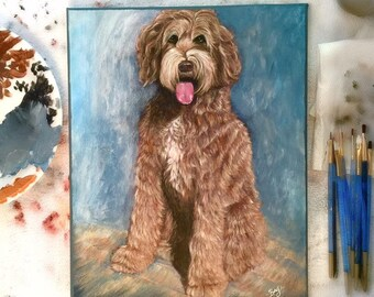 CUSTOM DOG PORTRAIT - Dog art, dog portrait, get your pet portrait painted ! Personal keepsake, Best Seller