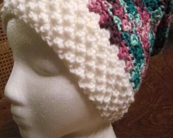Frolic Hat / Pink & Teal Variegated