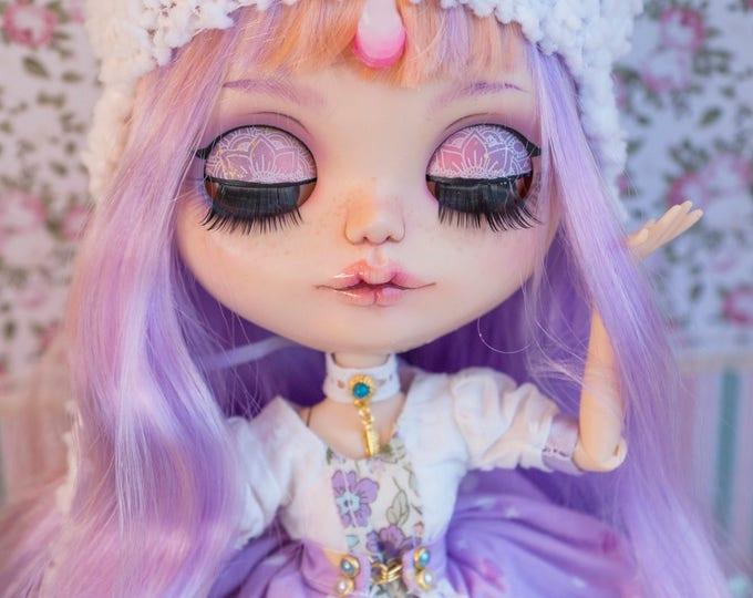 Custom Blythe ( Unicorn ) Art unique tan Doll by WillStore