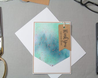 Business Thank You Card - Small Business Cards - Small Business Tags - Watercolor Tags - Card Tags - Handmade Seller Cards - Thank You Tags