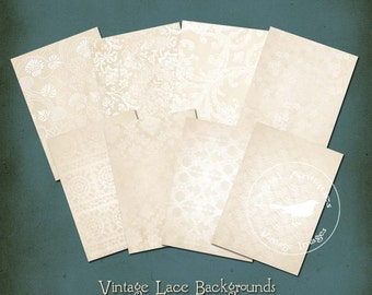 Vintage Lace Backgrounds Printable Digital Download