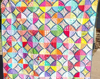 Cathedral Windows Variation Quilt