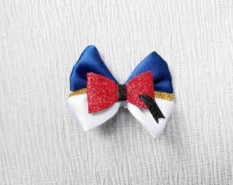 Blue and white hair bows, small hair clips, pigtails hair bows, toddler hair slides, baby headbands, girls hair bows, ribbon bows for girls