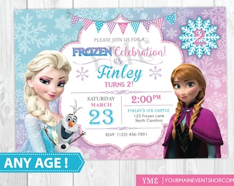 Frozen invitation etsy frozen birthday invitation printable frozen invitation frozen birthday party invites winter invitation solutioingenieria