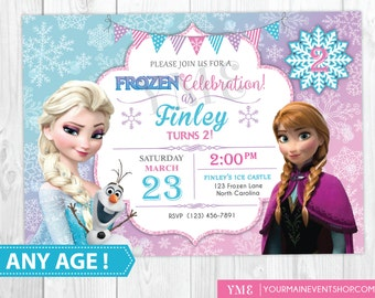 Winter invitation etsy frozen birthday invitation printable frozen invitation frozen birthday party invites winter invitation filmwisefo Image collections