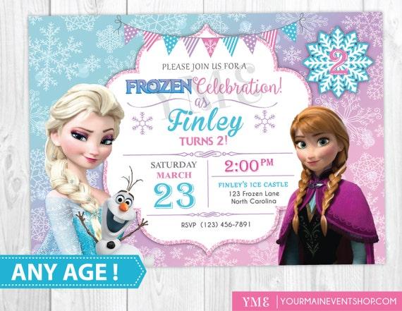 Frozen birthday invitation printable frozen invitation like this item filmwisefo Image collections