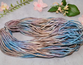 Hand dyed Silk Cord  - 2-3mm grey beige taupe silk cord - silk cord - jewelry cord - blue silk cord