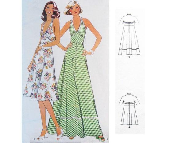 Sexy Sommer Neckholder Maxi Kleid: VINTAGE Schnittmuster - 70er ...