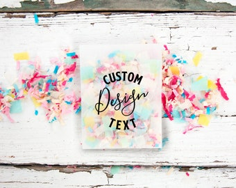 Custom Confetti Packet - Personal size Toss Packet - graduation, wedding, office, celebration, mail  - 25 finished confetti toss packets