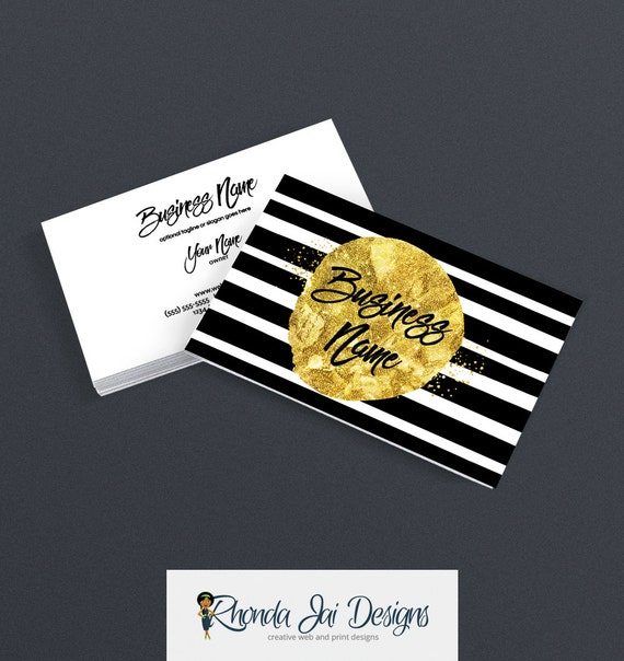 2 sided printable business card design etsy shop business cards 2 sided printable business card design etsy shop business cards glam business card designs black and gold geometric 7 16 from rhondajai on etsy reheart Image collections