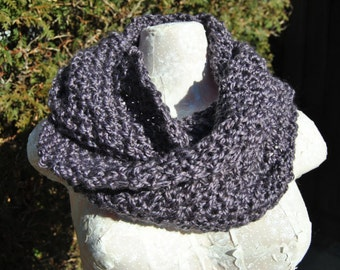 Hand knit Infinity Scarf or Cowl