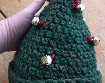 Raggedy Elf Hat with Jingle Bells