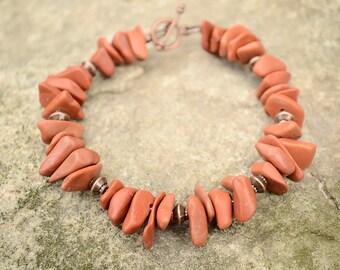 Jasper bracelet, Red jasper bracelet, Beaded red jasper bracelet, Genuine red jasper bracelet, Red jasper jewelry, Bracelet with jasper.