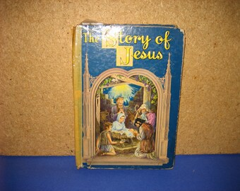 "Vintage 1941 Book Entitled ""The Story of Jesus"" in Hardback"