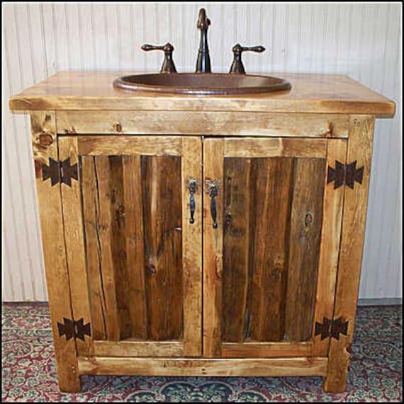 Description. This Rustic Bathroom Vanity ...