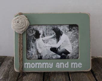 Mommy and Me Picture Frame, Mother's Day Gift, Mom Picture Frame, Rustic Gift