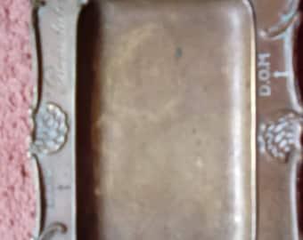 Brass Benedictine pin/coin tray