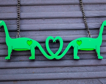 Reversible Dino Necklace