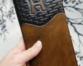 Handmade Leather Wallet ~ Long Roper Style Wallet ~ Personalized