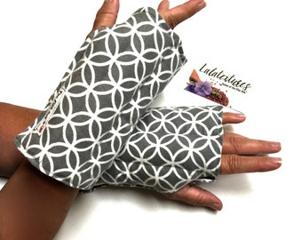 1 Wrist and hand heat wrap, Flax, Carpal tunnel relief, wrist and Hand flax heating glove for arthritis relief,Typing, craft and knit relief