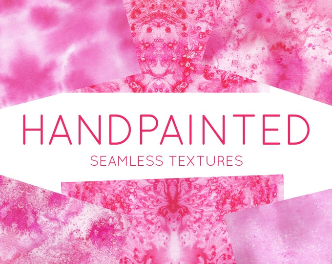 Hand Painted Mixed Media Texture - Pink Background Textures - Patterns - Handpainted pattern - Watercolour Texture - Digital Scrapbooking