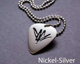 Etched Chris Cornell Guitar Pick Necklace - Donation Sale - Choice of Metals