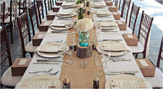 120 X 12 Inch Burlap Table Runners Fit 8ft Long