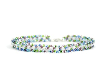 Fußkettchen Kette - Perle-Knöchel-Armband - Rocailles Perlen Schmuck - Strand Fußkettchen - Multi Farbe Fußkettchen - Perlen Fußkettchen - Fußschmuck