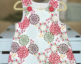 Handmade Cotton Floral dress for a baby girl or a little princess.