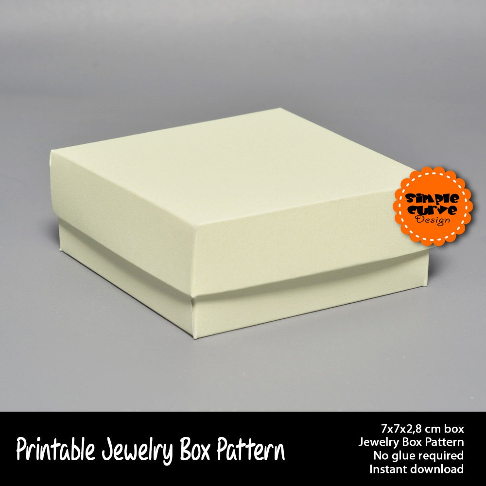 Jewelry Box Printable Pattern Packaging Gift Box Ready To Use Box ...