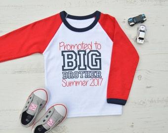 Promoted to Big Brother Shirt   Big Brother Announcement Shirt   Big Brother Shirt   Raglan Promoted to Big Brother