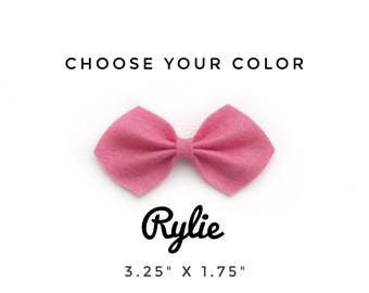 Rylie Bow, Choose your Color, Felt Bow, Baby Headband, Baby Bow Headband, Felt Bow Headband, Hair Clips, Hair Bows, Baby accessories