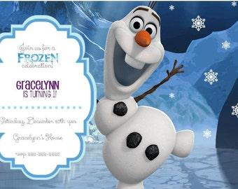 Frozen Birthday Invitation- Printable