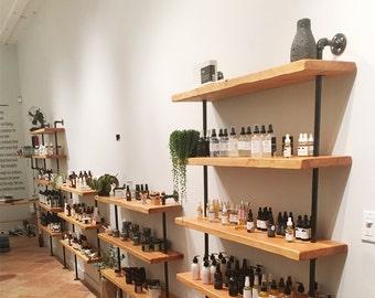 Bookshelves, industrial shelving, book shelves, shelves, wall shelf, industrial shelf, book shelf, shelf, retail display, industrial display