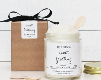 Sweet Frosting Sugar Scrub - 8 oz | All Natural Sugar Scrub | Vegan Sugar Scrub | Birthday Gift | Birthday Gift for her | Gift for friend