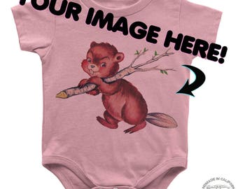 Customize It! Infant Baby Rib Bodysuit DTG Screen Printed Zen Threads + personalized custom printed one piece