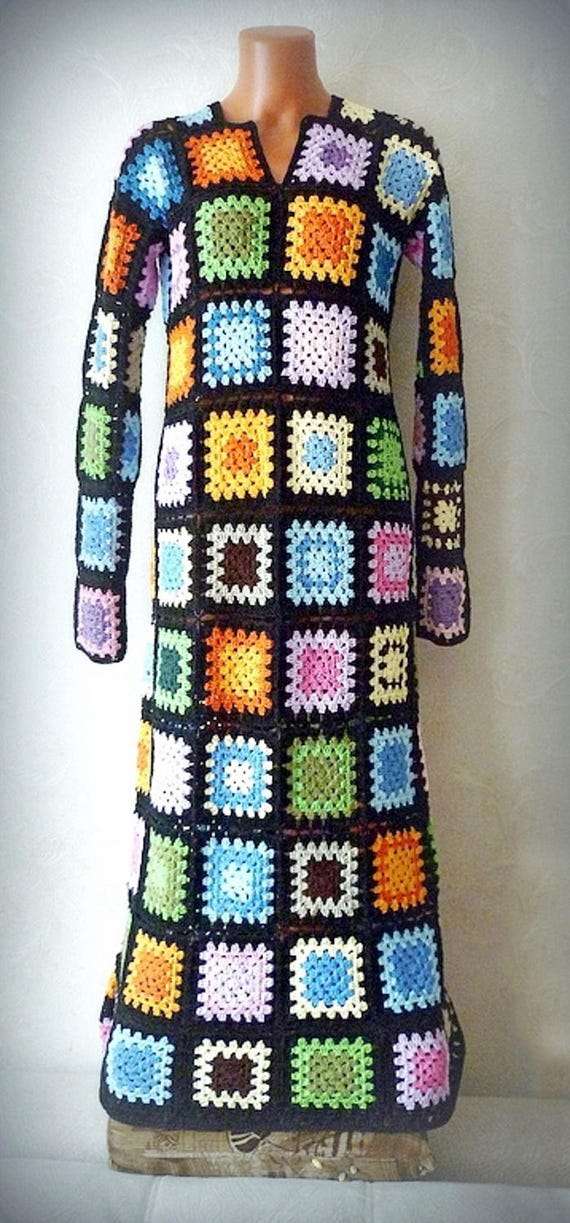 Langarm hippie kleid