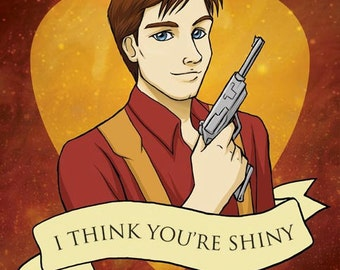 Malcolm Reynolds Valentine- Firefly fan art original illustration print