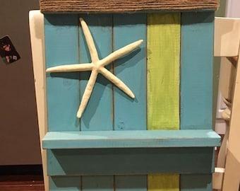 Handmade wood wall shelf