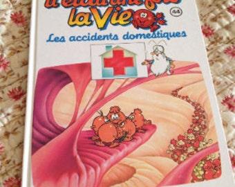 Children's book. he was once life. il était une fois la vie
