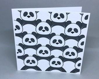 Panda huddle - greeting card
