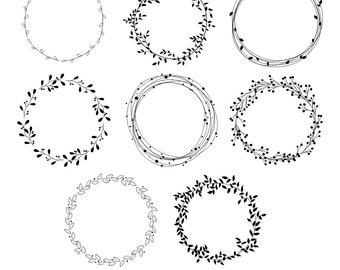 wreath clipart etsy rh etsy com wreath clipart free wreath clipart black and white