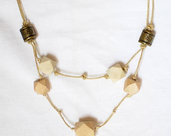 Wood shapes - necklace