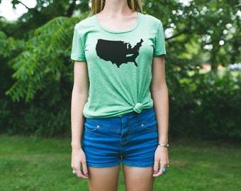 TENNESSEE is a State Women's T-Shirt / Tennessee Map Shirt / Tennessee Pride / Tennessee Native / Tennessee Love / Tennessee Home State