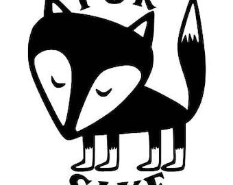 For Fox Sake vinyl decal - car decal, mug, tumbler